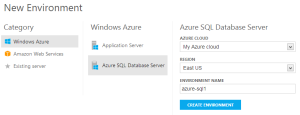 web-ui-new-azure-sql-environment